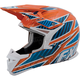 Orange/Blue/White X-1 Race Helmet