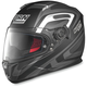 Flat Black/Anthracite/White N86 Overtaking Helmet