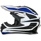 Blue/White FX-21 Alpha Helmet