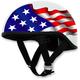 White FX-200 Slick Freedom Beanie Style Half Helmet
