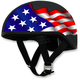 Black FX-200 Slick Freedom Beanie Style Half Helmet