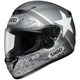 Gray/White Qwest Resolute TC-5 Helmet
