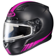 Matte Black/Hi-Viz Neon Pink CL-17SN Streamline MC-8F Snowmobile Helmet w/Electric Shield