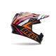 Black/Orange/White/Pink Tagger Designs Scrub MX-9 Helmet