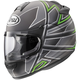 Black Frost/Silver/Green Vector-2 Hawk Helmet