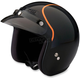 Black/Orange Jimmy Intake Open Face Helmet