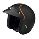 Flat Black/Orange Jimmy Intake Open Face Helmet