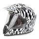 Dazzle Silver FX-39DS Dual Sport Helmet
