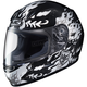 Youth Black/White/Gray CL-Y Flame Face MC-5 Helmet