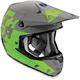 Gray/Green Verge Tach Helmet
