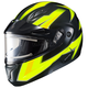 Hi-Viz Neon Green/Black CL-Max 2 Ridge Helmet w/Electric Shield