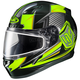 Black/Hi-Viz Green/Gray CL-17SN MC-3H Striker Helmet w/Frameless Dual Lens Shield