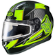Black/Hi-Viz Green/Gray CL-17SN MC-3H Striker Helmet w/Frameless Electric Shield