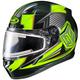 Black/Hi-Viz Green/Gray CL-17SN MC-3H Striker Helmet w/Frameless Electric Shield
