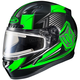 Black/Green/Gray CL-17SN MC-4 Striker Helmet w/Frameless Electric Shield
