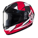 Youth Red/Black/White CL-YSN MC-1 Striker Helmet with Framed Dual Lens Shield