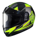 Youth Hi-Viz Green/Black/Gray CL-YSN MC-3H Striker Helmet with Framed Dual Lens Shield