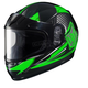 Youth Green/Black/White CL-YSN MC-4 Striker Helmet with Framed Dual Lens Shield