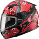 Youth Black/Red GM49Y Attack Snowmobile Helmet