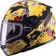 Youth Black/Yellow GM49Y Attack Snowmobile Helmet