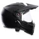 Black AX8 Dual Sport Carbon Helmet
