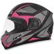 Matte Frost Gray/Fuchsia FX-90 Extol Frost Helmet