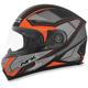 Matte Frost Gray/Saftey-Orange FX-90 Extol Frost Helmet