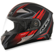 Black/Red FX-90 Rush Matte Helmet