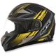 Black/Yellow FX-90 Rush Matte Helmet