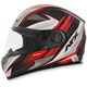 Black/Red FX-90 Rush Gloss Helmet