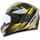 Black/Yellow FX-90 Rush Gloss Helmet