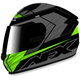 Black/Green FX-24 Talon Helmet