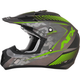 Frost Gray/Green FX-17 Matte Factor Helmet