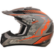 Frost Gray/Safety Orange FX-17 Matte Factor Helmet