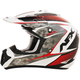 Pearl White/Red FX-17 Factor Helmet
