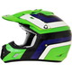 Green/Blue/White FX-17 Vintage Kawasaki Helmet