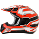 Black/White/Safety Orange FX-17 Works Helmet