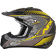 Frost Gray/Hi Vis Yellow FX-17 Youth Factor Helmet