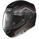 Flat Black/Red N104E Como Helmet