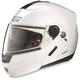 Metallic  White/Black N91 N-Com Modular Helmet
