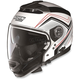Metalllic White/Red N44 N-Com Como Helmet