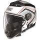 Metalllic White/Red N44 N-Com Como Helmet
