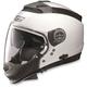Metallic White N44 N-Com Helmet