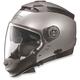 Metallic Platinum Silver N44 N-Com Helmet
