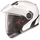 Metallic White N40 Full N-Com Helmet