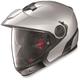 Metallic Platinum Silver N40 Full MCS Helmet