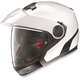 Metallic White N40 Full MCS Helmet