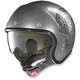 Scratched Chrome N21 Speed Junkie Helmet