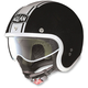 Metallic Black/White N21 Caribe Helmet