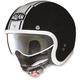Metallic Black/White N21 Caribe Helmet